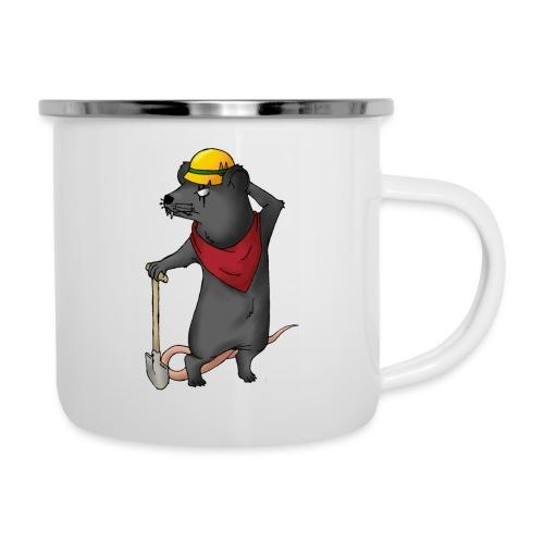 Arbeiter Ratte - Emaille-Tasse