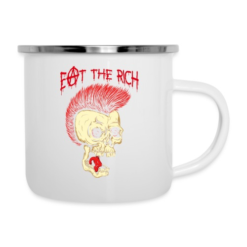 Eat The Rich (For Dark Shirts) - Emaille-Tasse