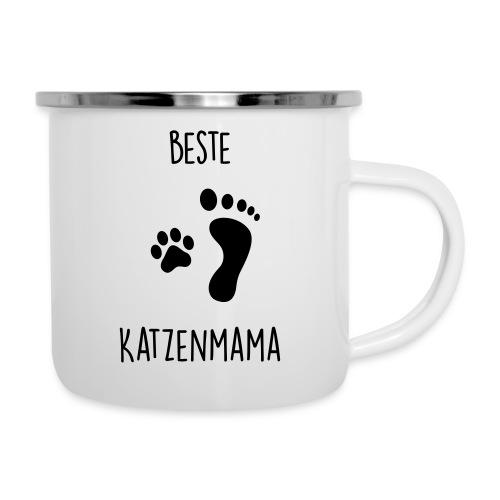 Vorschau: Beste Katzenmama - Emaille-Tasse