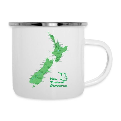 New Zealand's Map - Camper Mug