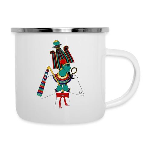 Osiris I altägyptische Gottheit - Emaille-Tasse