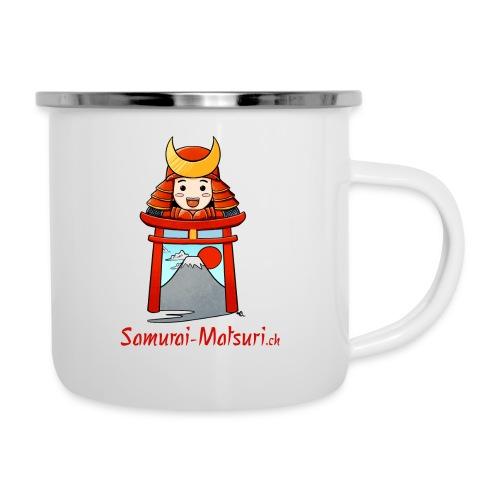 Samurai Matsuri Torii - Emaille-Tasse