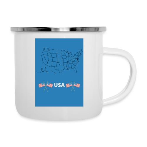 Mug USA - Tasse émaillée