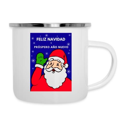 Taza navideña Santa Claus, Feliz NaNavidad - Taza esmaltada