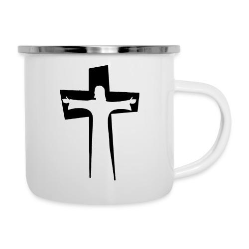 Abstrakt Jesus på korset - Emaljmugg