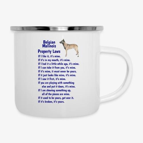 Belgian Malinois property laws - Camper Mug