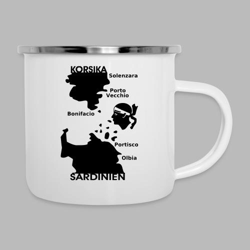 Korsika Sardinien Mori - Emaille-Tasse
