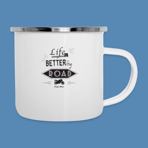 Moto - Life is better on the road - Tasse émaillée