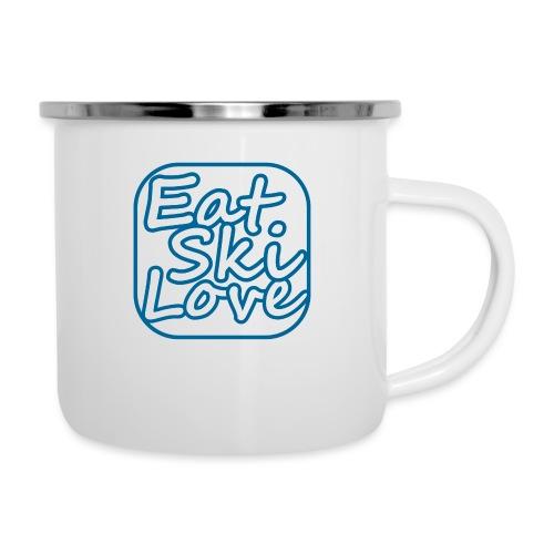 eat ski love - Emaille mok