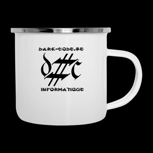 Dark-Code Black Gothic Logo - Tasse émaillée