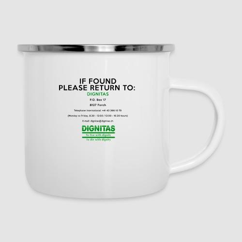 Dignitas - If found please return joke design - Camper Mug