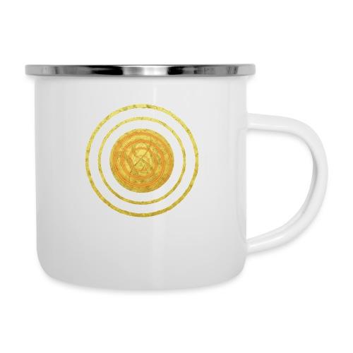 Glückssymbol Sonne - positive Schwingung - Spirale - Emaille-Tasse