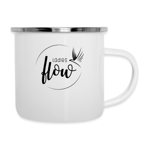 Ladies Flow LO Logo Black - Emaille-Tasse