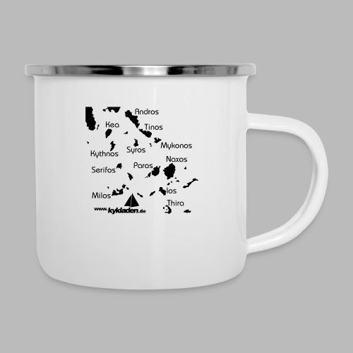 Kykladen Griechenland Crewshirt - Emaille-Tasse