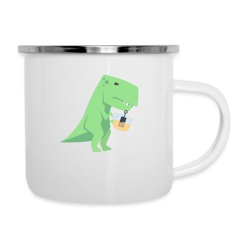 Tea-Saurus - Emaille-Tasse