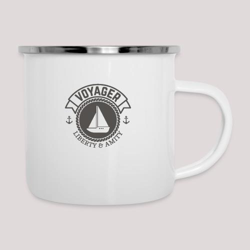 SegelbootVoyager - Emaille-Tasse