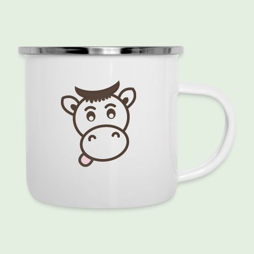 Kuh - Emaille-Tasse