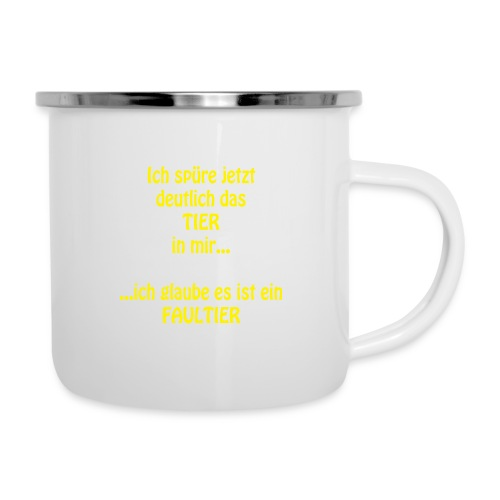 Faultier - Emaille-Tasse