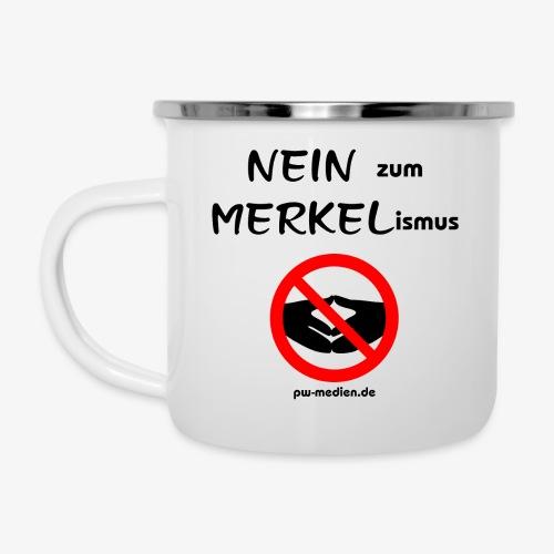 NEIN zum MERKELismus - Emaille-Tasse