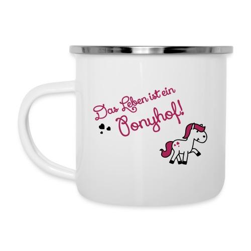 Ponyhof - Emaille-Tasse