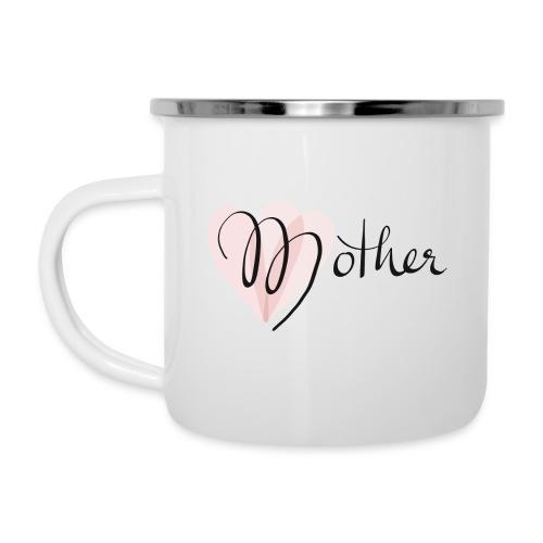 Mother Rose Herz Mutter - Emaille-Tasse