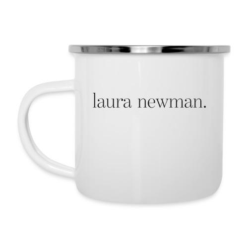 laura newman. Logo | dark - Emaille-Tasse