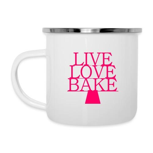 LiveLoveBake ekstra stor - Emaljekrus