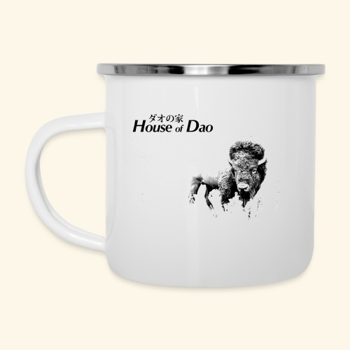 House of Dao - Buffalo BW - Emaille-Tasse