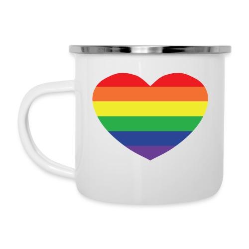 Rainbow heart - Camper Mug
