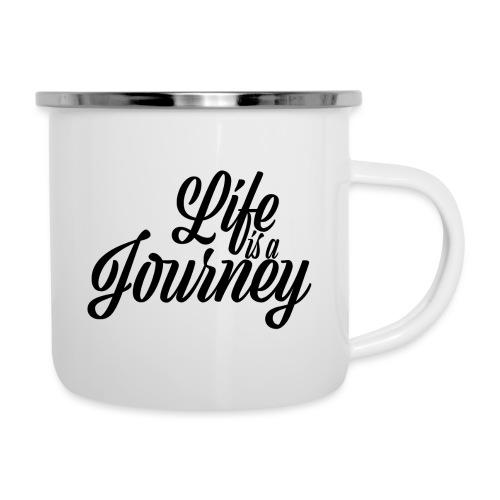 Life is a journey - Kubek emaliowany