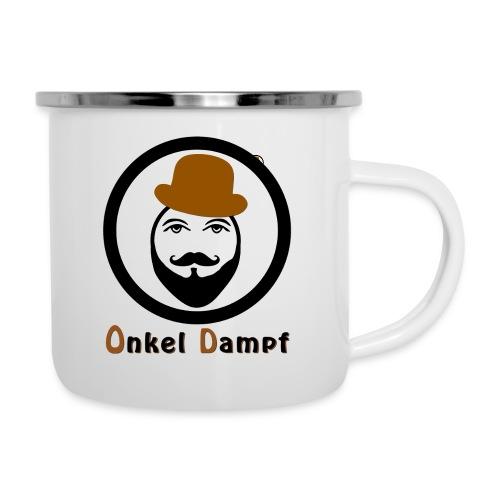 Schriftzug_onkel-dampf_we - Emaille-Tasse