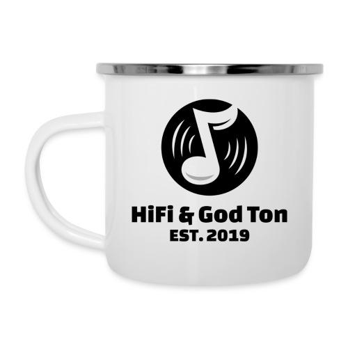 HiFi & God Ton logo svart - Emaljmugg
