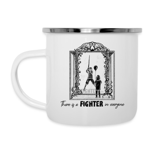 Fight Against... 2019 (bl) - Emaille-Tasse
