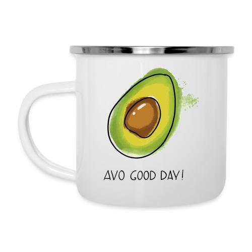 Fruit Puns n°2 Avo Good Day, Avocado - Emaille-Tasse