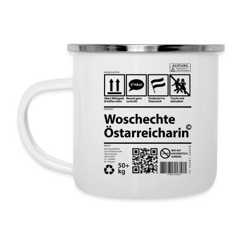 Vorschau: Woschechta Österreicha - Emaille-Tasse