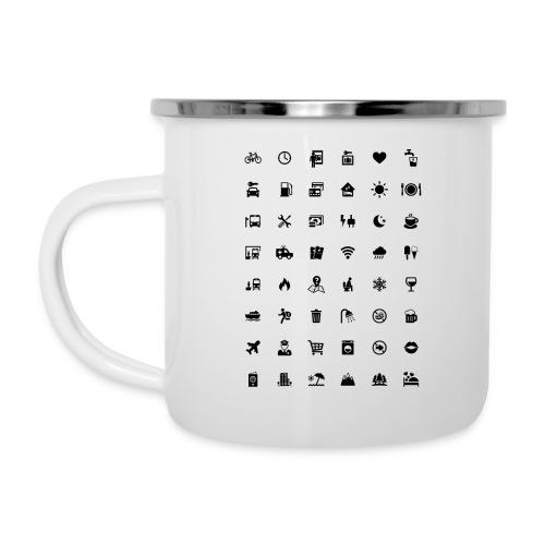 Picture Language - Emaille-Tasse