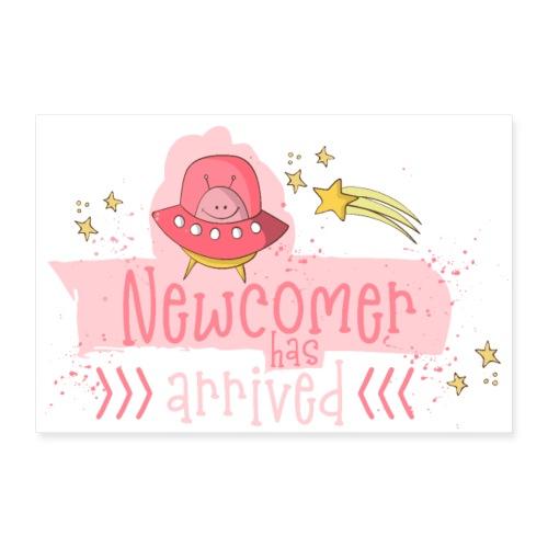 Baby Newcomer: Ein Mädchen Baby ist geboren - Poster 90x60 cm