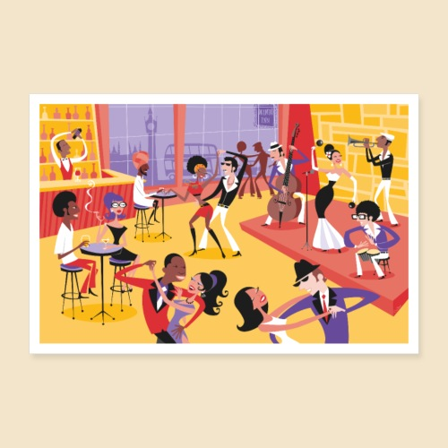 Mambo Party Poster - Poster 36 x 24 (90x60 cm)