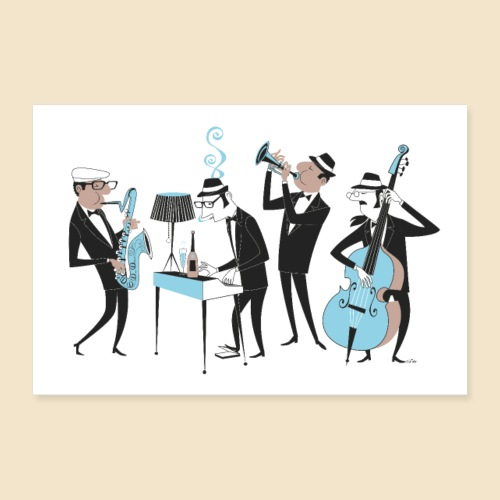 Jazz Band Poster - Poster 36 x 24 (90x60 cm)
