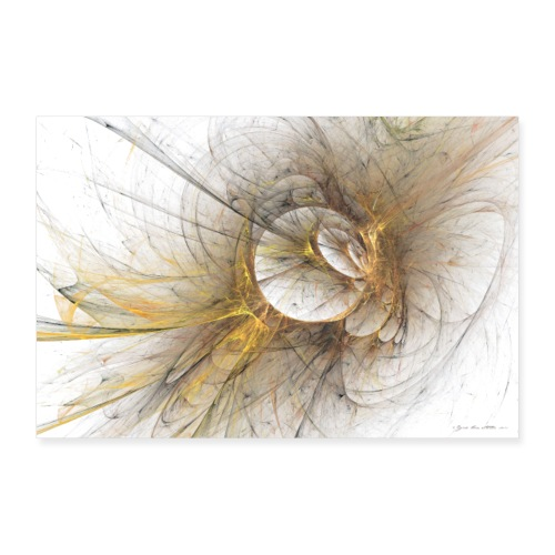 Abstrakti juliste - Golden memories by Sipo - Juliste 90x60 cm
