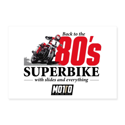 Poster 80's Superbike - Poster 90 x 60 cm