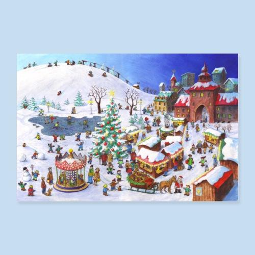 Im Winter - Poster 90x60 cm