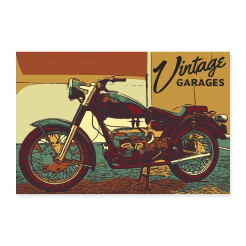 Vintage garage - Poster 90x60 cm