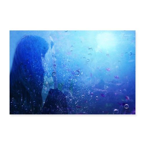 Farbphantasien - Seelenspiegel - - Poster 90x60 cm