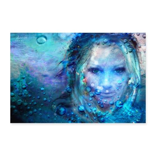 Farbphantasien - Geborgenheit - - Poster 90x60 cm