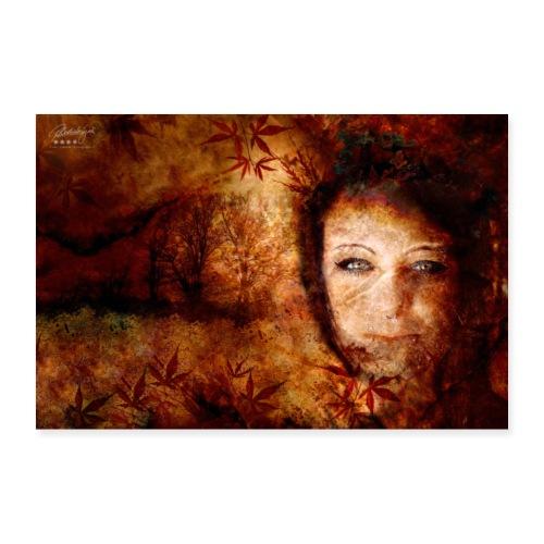 Farbphantasien -Herbststürme- - Poster 90x60 cm