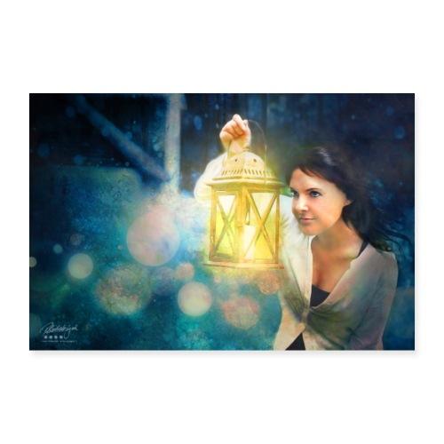 Farbphantasie Auge der Nacht - Poster 90x60 cm