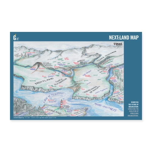 Next: land-Map - Poster 36 x 24 (90x60 cm)