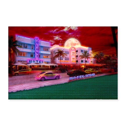 Miami Nights - Poster 36 x 24 (90x60 cm)