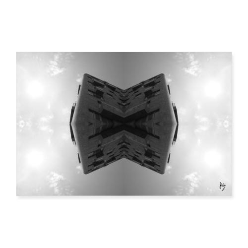 Grey cuBe - Poster 90x60 cm